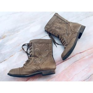 Rampage brown faux leather boots